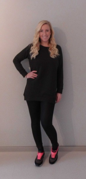 OOTD-outfit-leather-legging-leer-groene-oversized-sweater-nike-bershka-3