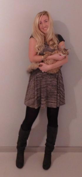outfit-jurkje-dress-primark-laarzen-heels-zara-leren-mouw-leather-sleeves-2