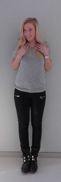 ootd-outfit-of-the-day-grey-grijs-shirt-pieces-statement-necklace-primark-boots-1