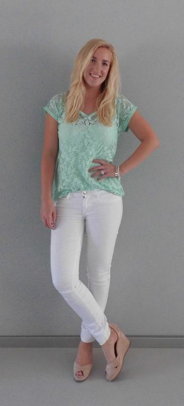OOTD-white-wit-en-mint-green-kant-lace-summer-2