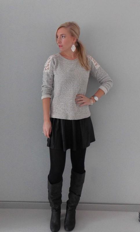 OOTD-outfit-sweater-trui-en-skirt-rokje-high-heels-boots-zara-stradivarius-primark-casual-chic-comfy-2