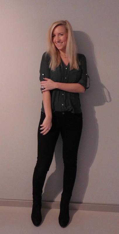 ootd-outfit-work-blouse-bloesje-mosgroen-black-zwarte-jeans-broek-casual-chic-blondie-beauty-fashion-1