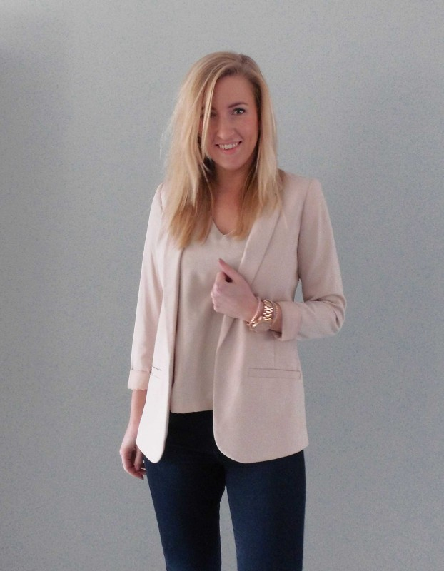ootd-outfit-of-the-day-what-im-wearing-colbert-jacket-pink-nude-roze-basic-classic-jeans-denim-boots-budget-3