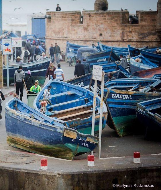 essaouira morocco port fishermen