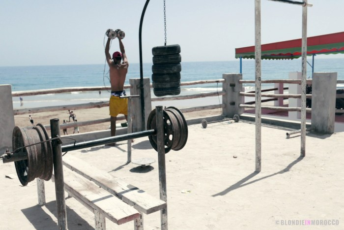 taghazout morocco gym ocean