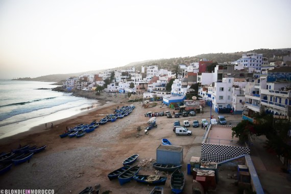 Taghazout Morocco terrace view beach