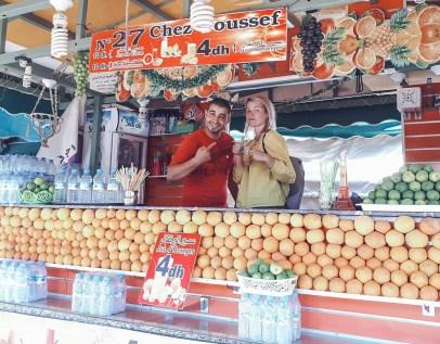marrakech morocco orange juice fresh selller both