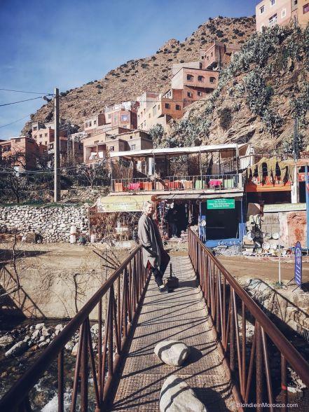 setti fatma, valley, bridge, girl, scenary, morocco
