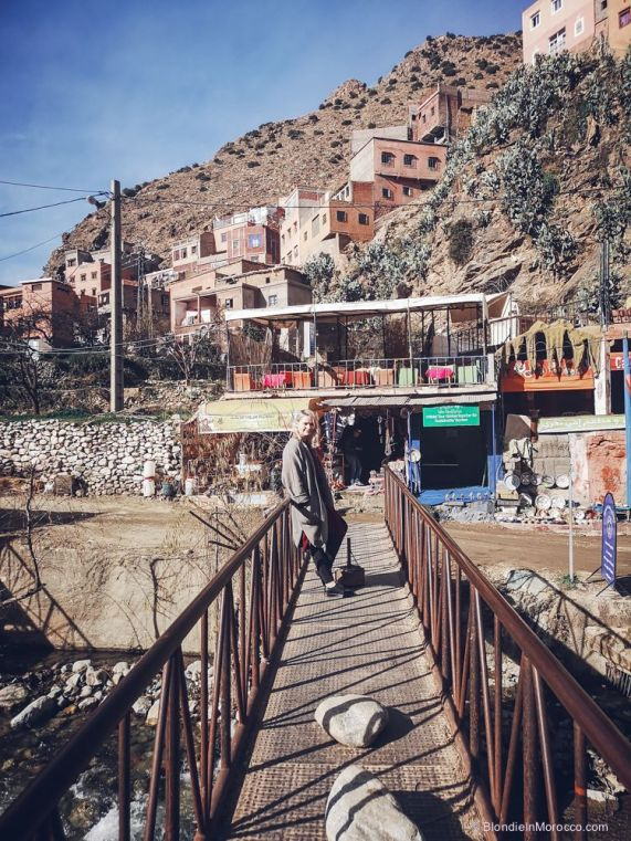setti fatma, valley, bridge, girl, scenary, morocco