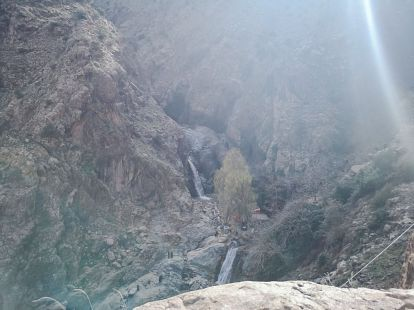 waterfalls, morocco, mountains, high atlas, view, nature