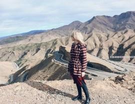 morocco road mountains high atlas girl