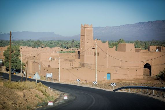 morocco, road, kasba