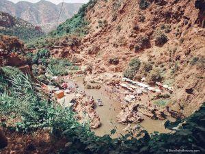 ouzoud, waterfall, river, lake, people