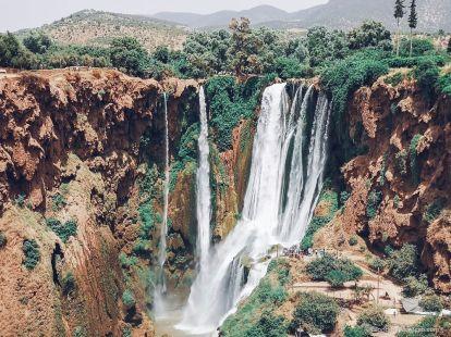 ouzoud, waterfall, morocco, mountain, view