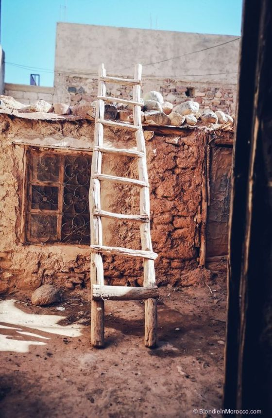 morocco, berber, ladder, house, traditional