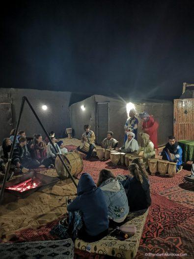 sahara desert camels sand dunes morocco berbers camp dinner fire
