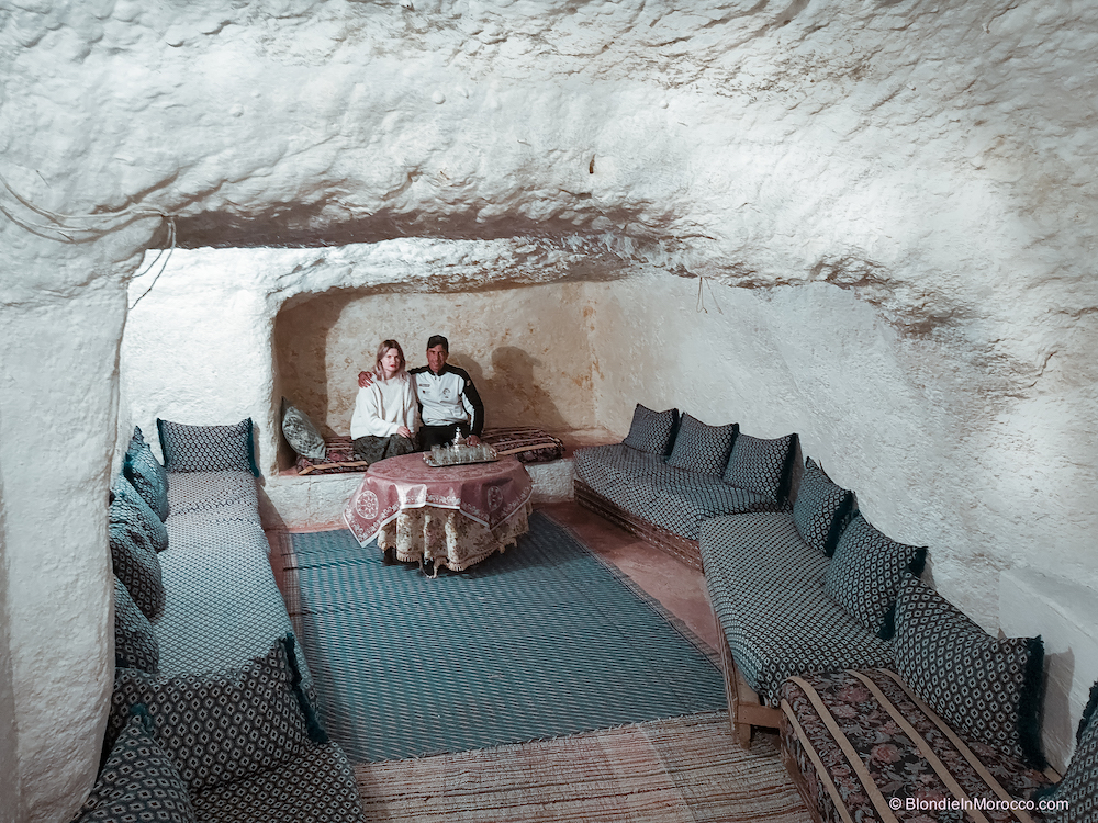 bhalil morocco cave house dwelling room stone