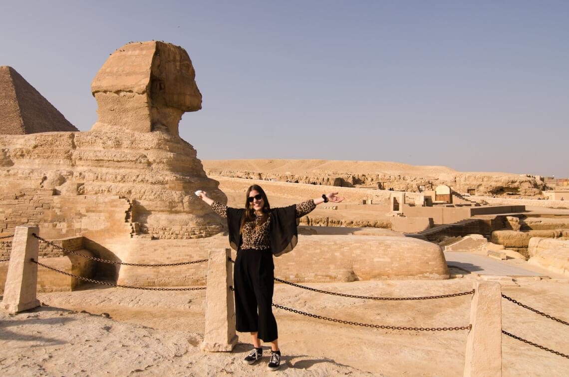 Mit Insulinpumpe bei den Pyramiden