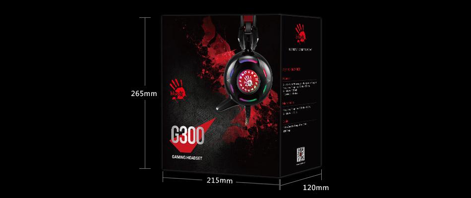 A4Tech Bloody G300 Combat Gaming Headphone (Black) Specs