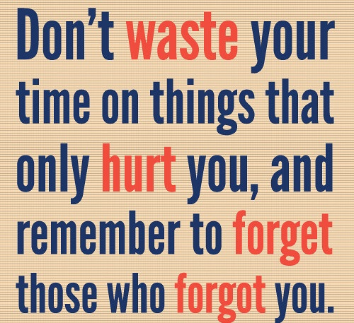 Forget Someone Who Hurt You