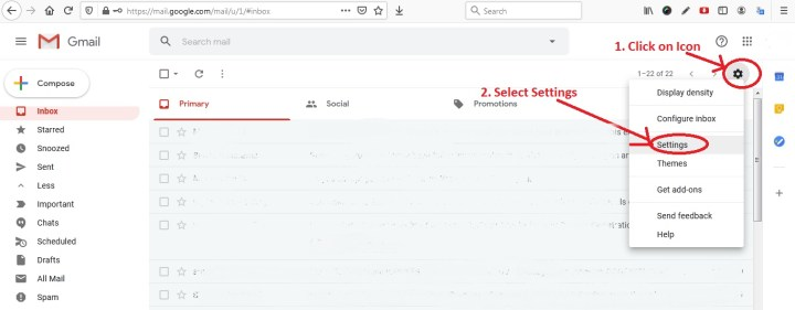 Gmail Setting - Take Backup of One Gmail Inbox to Another Gmail Account