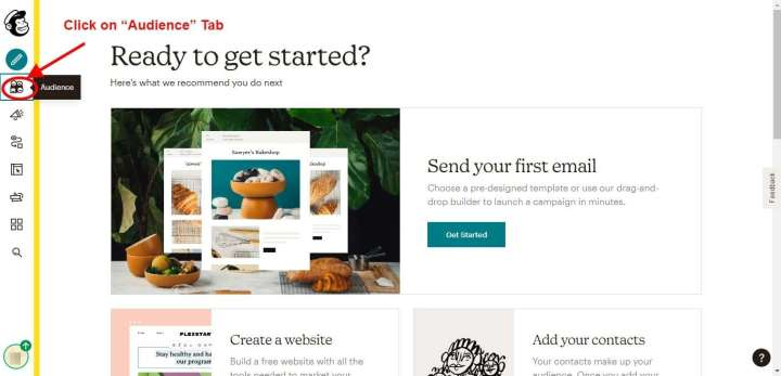 Step 4 - Create an Email List in MailChimp