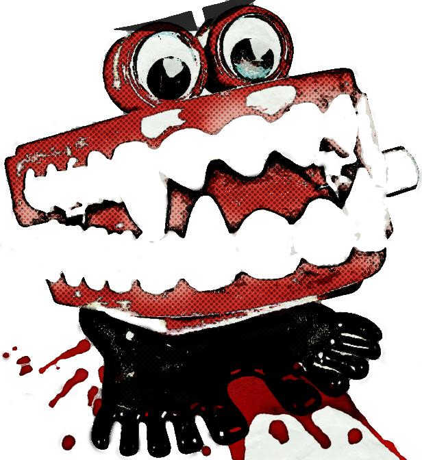 vampire chattering teethvector