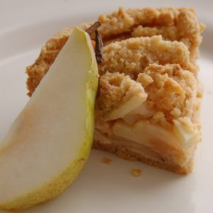 Apple crumble and pear pie by Bloom Bakers