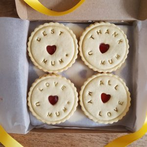Bespoke biscuits made for mum on mother's day