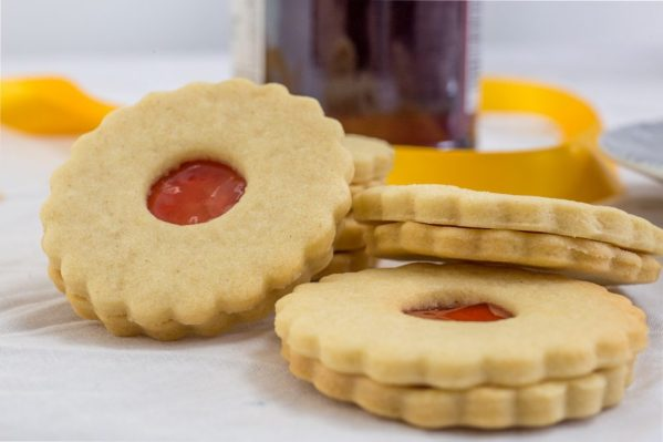 Jam Sandwich biscuits by Bloom Bakers