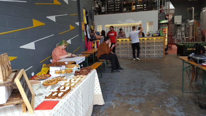 NOrth Brewery eat north event in Leeds Bloom Bakers treats table