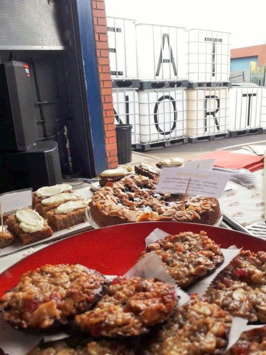 Close up of Bloom Bakers treats at eat north in Leeds