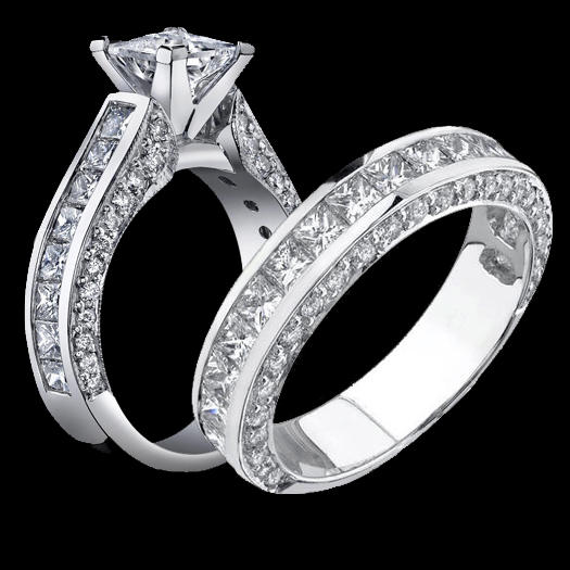 Jewelers Impressive Princess Cut Engagement Rings With