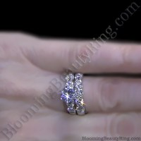 Tiffany Style 9 Large Stone Diamond Engagement Ring Set ...
