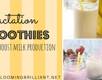 These delicious lactation smoothies are a healthy option for boosting your milk production without any guilt
