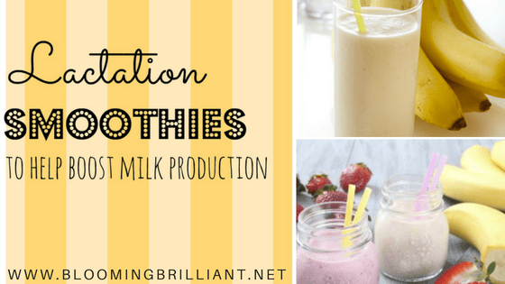 These delicious lactation smoothies are a healthy option for boosting your milk production without any guilt.