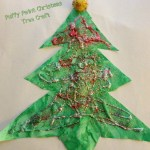 12 Days of Christmas Crafts- Puffy Paint Christmas Tree