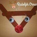 12 Days of Christmas Crafts- Rudolph Ornament