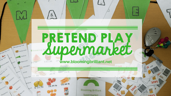 Pretend Play Supermarket perfect for toddlers and preschoolers