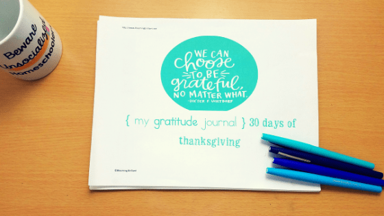 how Gratitude all month in November. Teach being thankful for 30 days of Thanksgiving with our printable thankful journal.