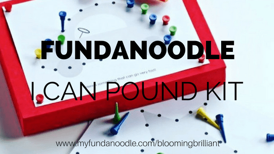 Fundanoodle I Can Pound Activity Kit is perfect for building hand strength as well as improve and develop motor skills.