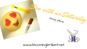 Sew with us Saturday- Emoji Pillow