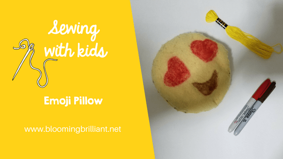 Sewing with Kids Emoji Pillow