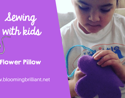 Sewing with Kids Flower Pillow