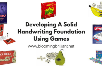 Developing A Solid Handwriting Foundation using Games