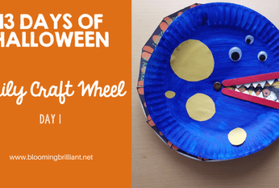 13 Days of Halloween Crafts! Help your little one countdown to Halloween with creative crafts each day. Halloween Wheel Countdown Craft! #Craftsforkids