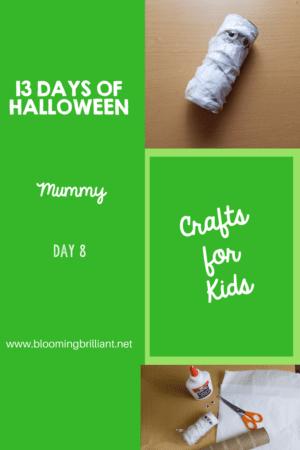 Crafts for Kids- Halloween Mummy Craft! Looking for a fun Halloween Craft for your kids? This Halloween Mummy Craft is so adorable and fun! #CraftsforKids