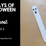 Crafts for Kids- Halloween Ghost Bookmark Craft