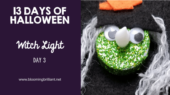 Crafts for Kids- Halloween Witch Light Craft! Looking for a fun Halloween Craft for your kids? This Halloween Witch Light Craft is both so adorable and fun! #Craftsforkids