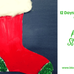 12 Days of Christmas- Paper Stocking Craft for Kids
